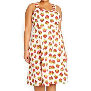 Modcloth Vintage Inspired Dress Strawberry A-Line